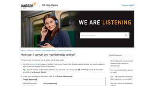How can I cancel my membership online? - Audible