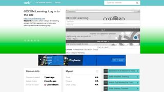 oxcomlearning.com - OXCOM Learning: Log in to the ... - OXCOM ...
