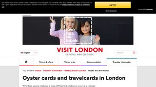 Oyster cards and travelcards in London - Getting Around London ...