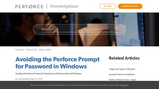 Avoiding the Perforce Prompt for Password in Windows