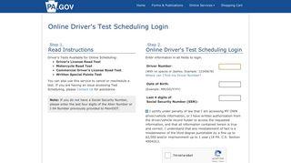 Schedule a Driver Road Test - Pa. DMV