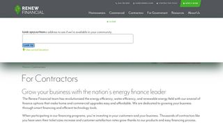 For Contractors | Clean Energy Financing | Renew Financial