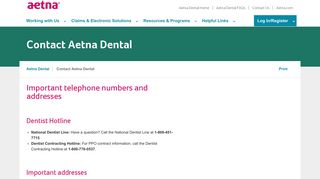 Contact Us | Aetna Dental