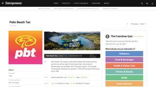 Palm Beach Tan Franchise Information - Entrepreneur