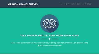 Opinions Panel Survey