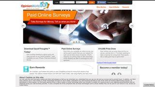 OpinionWorld: Paid Online Surveys