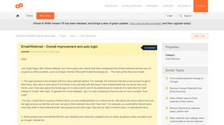 Email/Webmail - Overall improvement and auto login
