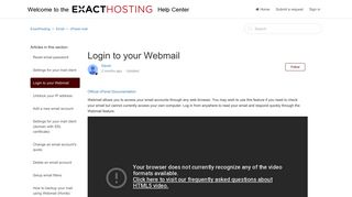 Login to your Webmail – ExactHosting