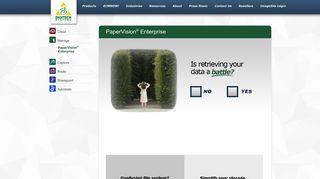 PaperVision Enterprise is a simple, searchable ECM Solution