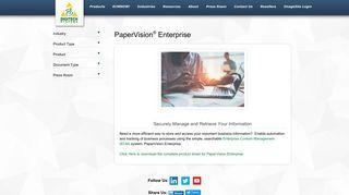 PaperVision Enterprise - Securely Manage Information