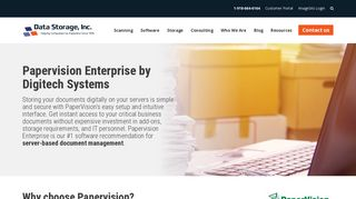 PaperVision Software for Document Management - Data Storage, Inc.