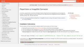 PaperVision or ImageSilo Connector - frevvo 74 - Confluence