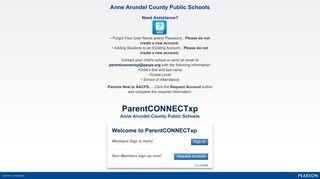 Welcome to ParentCONNECTxp - Anne Arundel County Public Schools