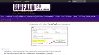 Parent Portal - Buffalo ISD