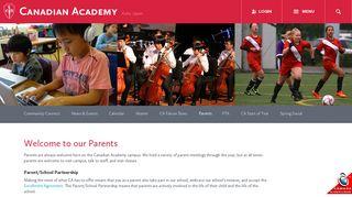 Canadian Academy: Parents