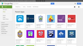 Android Apps by Parent Apps on Google Play