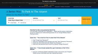 Log In | Park 'N Fly