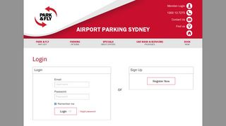 Login in to your Park N Fly - Sydney Airport Parking