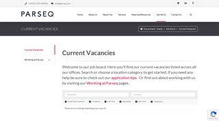 Parseq | Multi-channel services | Current Vacancies