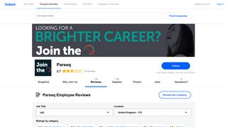 Working at Parseq: 132 Reviews | Indeed.co.uk