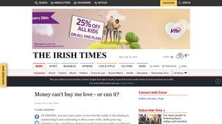 Money can't buy me love - or can it? - Irish Times