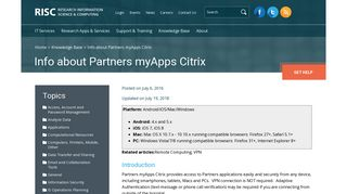 Info about Partners myApps Citrix | Research Information Science ...