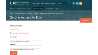 Getting Access to Epic - Partners HealthCare Research Computing