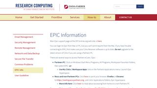 EPIC Information | Research Computing
