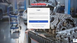My Parts Authority - Customer Login