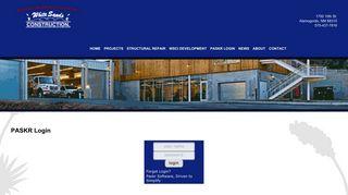 PASKR Login - White Sands Construction, INC.