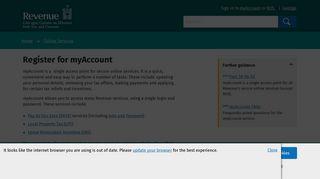 Register for myAccount