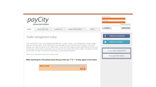 Traffic infringement notice - payCity