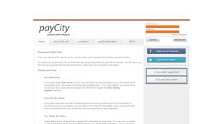 Paying your traffic fines - payCity