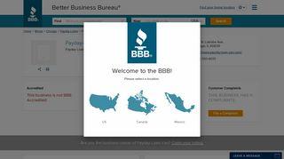 Payday-Loan-Yes | Better Business Bureau® Profile