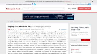Payday Loan Yes / Cash Net - Still begging for money, Review ...