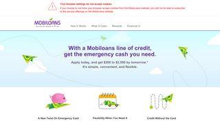 Mobiloans Credit: New Twist on Emergency Cash Loans