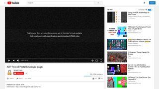 ADP Payroll Portal Employee Login - YouTube