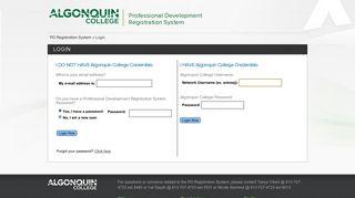PD Registration System - Algonquin College