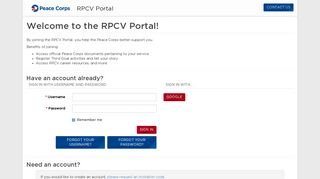 Sign In · RPCV Portal - Peace Corps