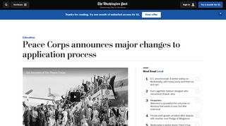 Peace Corps announces major changes to application process - The ...