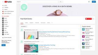 Pearl Bath Bombs - YouTube