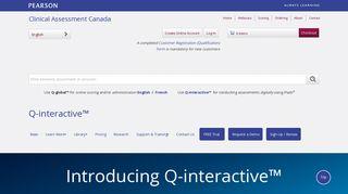 Q-interactive - Pearson