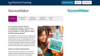 SuccessMaker - Overview | MPT | My Pearson Training | Pearson