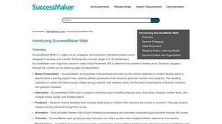 Introducing SuccessMaker Math - help.pearsoncmg.com