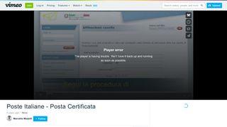 Poste Italiane - Posta Certificata on Vimeo