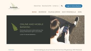 Online and Mobile Banking   Peninsula Credit Union