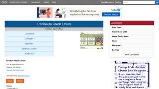 Peninsula Credit Union - Shelton, WA - Credit Unions Online