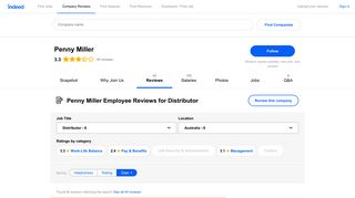 Working as a Distributor at Penny Miller: Employee Reviews   Indeed ...