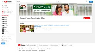 Maldives Pension Administration Office - YouTube