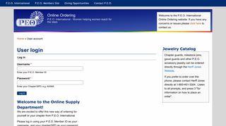 User login   Online Ordering - PEO International